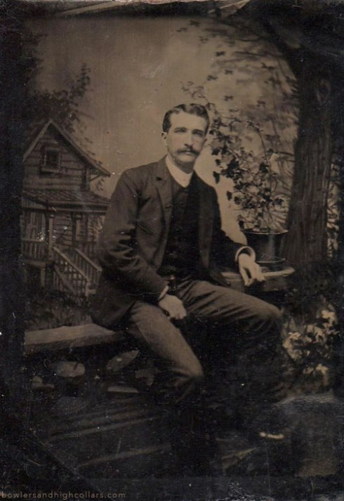 1/6th plate tintype. Personal Collection.