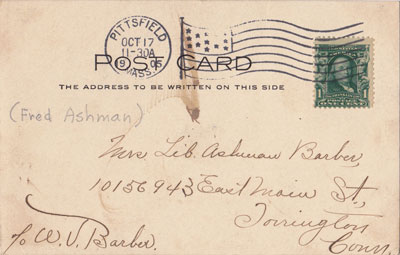 Back of card.