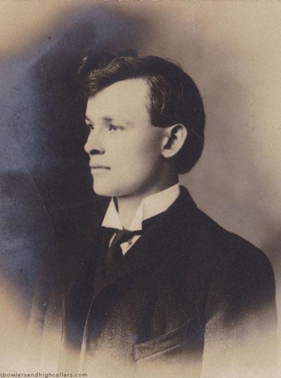 Three-quarter portrait on RPPC. Personal Collection.