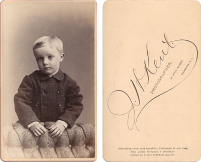 J.H. Kent. Rochester N.Y. CDV