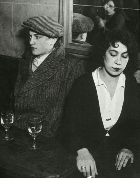 Lovers' Quarrel by Brassai. Paris 1932. Click for larger image.