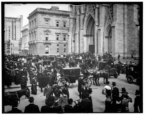 Easter morning 1903 -New York. St. Patrick Cathedral. Click for full size.