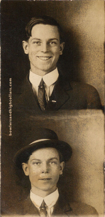 Super early, super tiny photobooth. Private Collection.