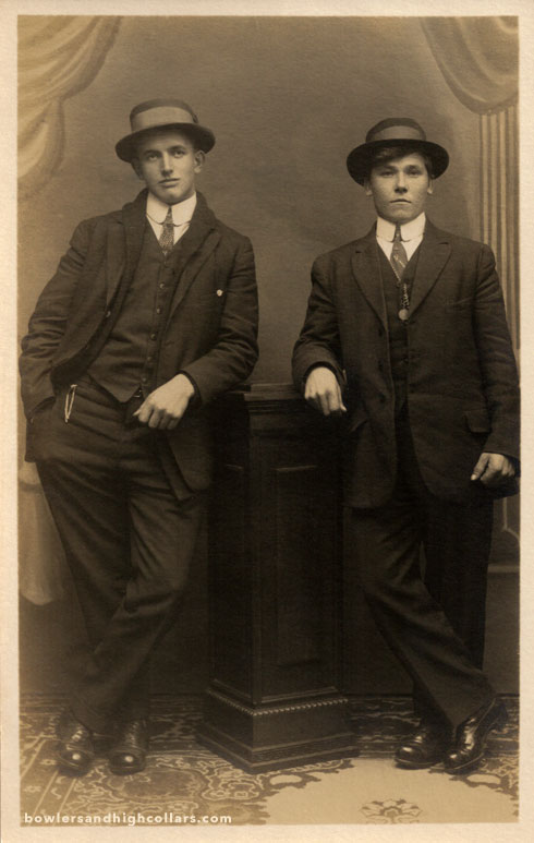 Teens with style. RPPC. Private Collection.