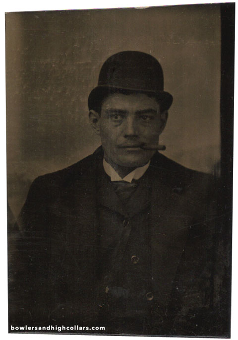 1/9th plate tintype. Private Collection.