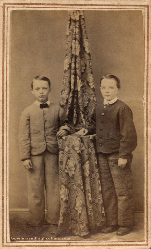 1860's working class little boys. CDV. Private Collection.