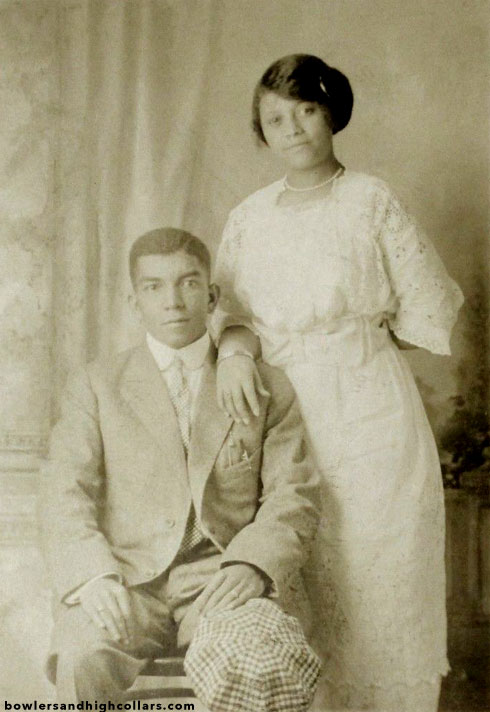 African American couple. RPPC. Private Collection.