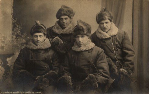 Americans in Russia. RPPC. Private Collection.