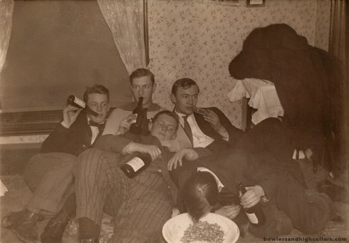 Too much wine? RPPC. Private Collection.