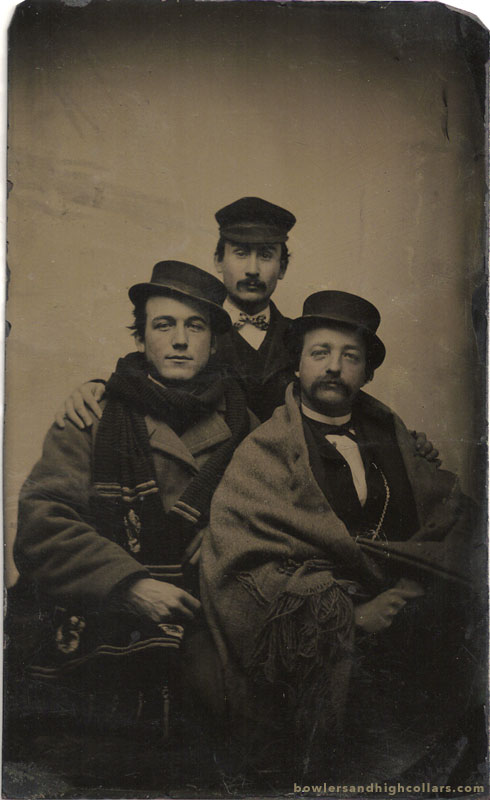 Bundled up on a tintype. Private Collection.