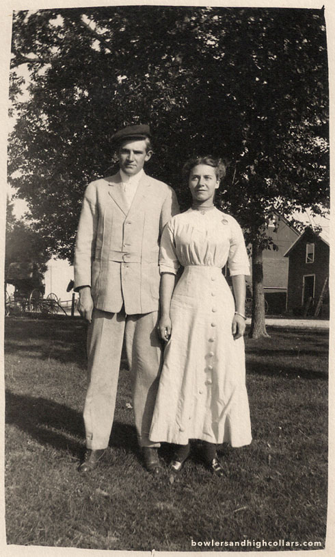 The American countryside couple. RPPC. Private Collection.