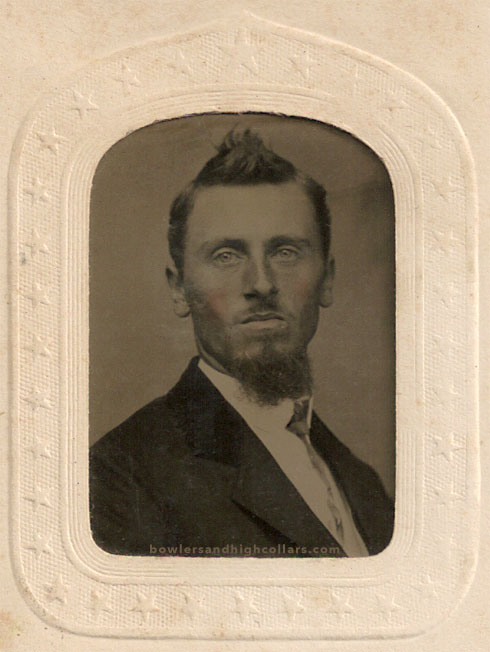 Mr. Faux Hawk tintype. Private Collection.