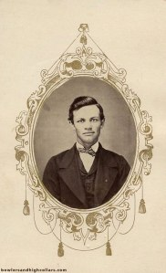John Randolph CDV with the intricate chandelier-like frame design.