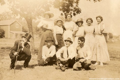 Life of the party. RPPC. Private Collection.