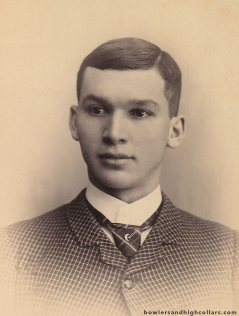 Close-up of cabinet card portrait. Private Collection.