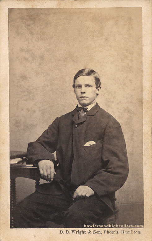 CDV of student with books. Private Collection.