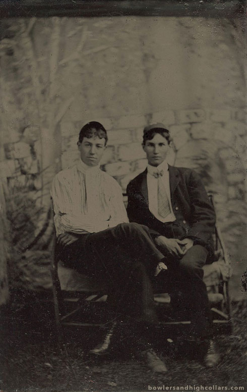 1890s duo. Tintype. Private Collection.