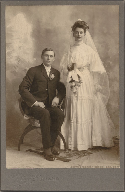 Wedding photo cabinet card. Private Collection.