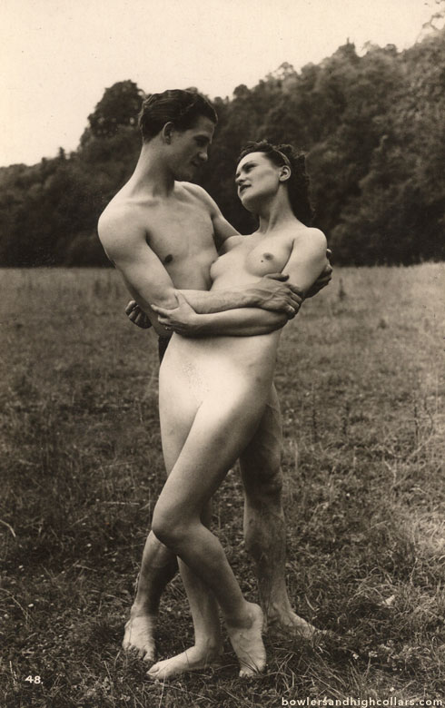 Biederer nude couple in field. Private Collection.