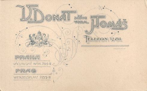 Back of CDV. V. Donat & J. Tomas