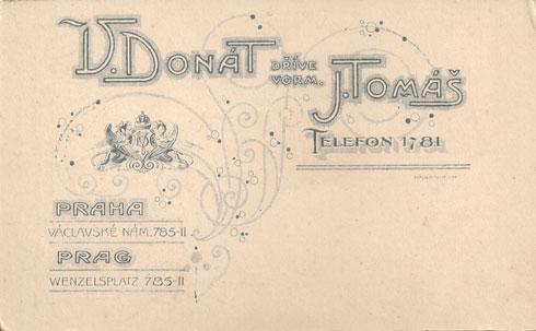 Back of CDV. V. Donat & J. Tomas