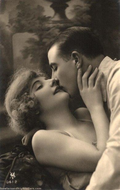 1920s romance postcard. Private Collection.