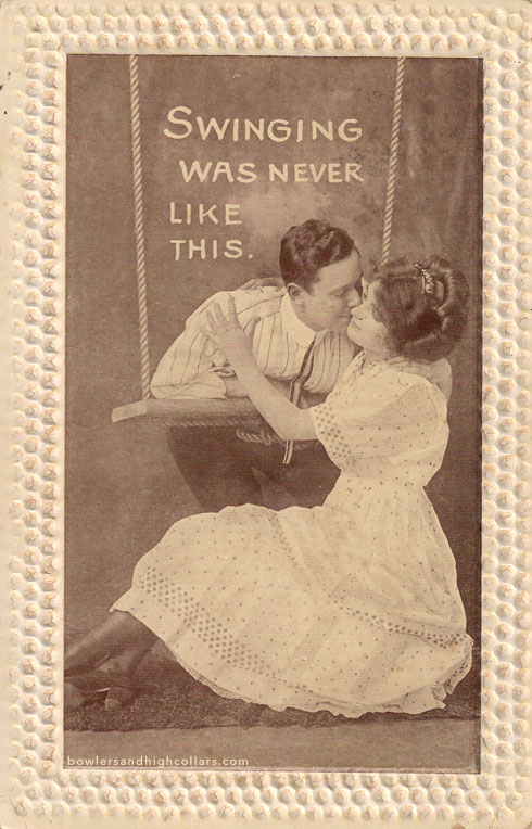 'Swinging was never like this'. Postcard. Private Collection.