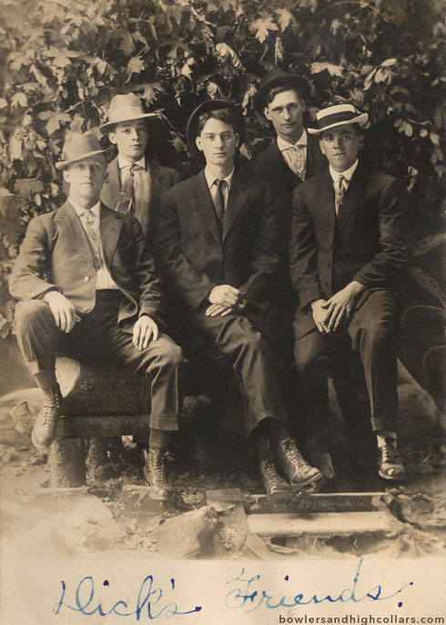 Slick's Friends. RPPC. Private Collection.