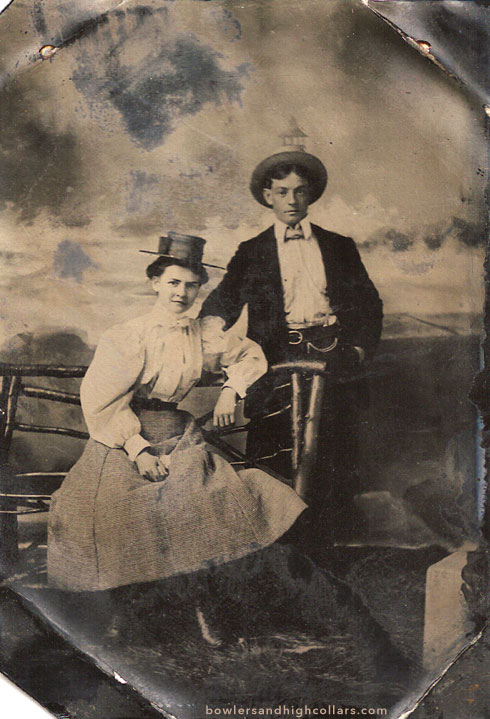 Tintype couple. Private Collection.