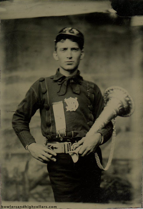 The fireman. Tintype. Private Collection.