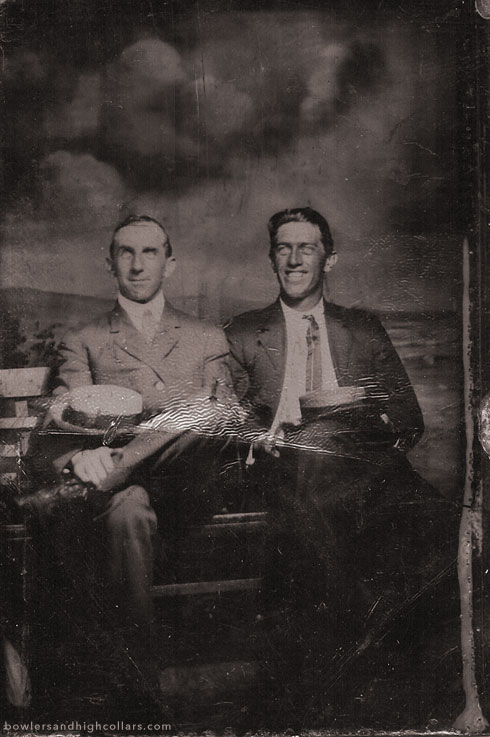 A particularly flashy smile on a tintype. Private Collection.
