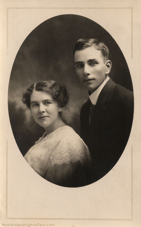 A very happy couple. RPPC. Private Collection.