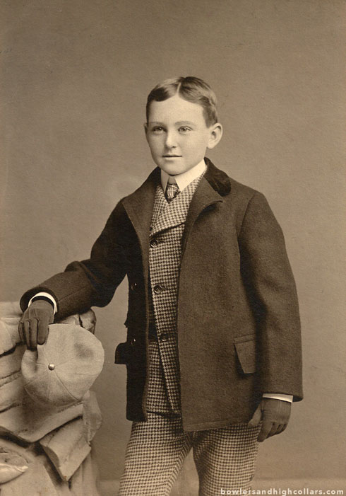 Well dressed Edwardian boy. Cabinet card. Private Collection.