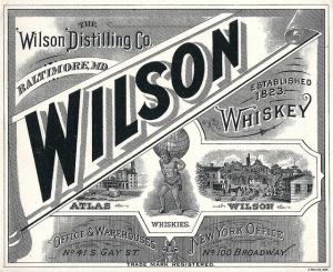 Wilson Whiskey label