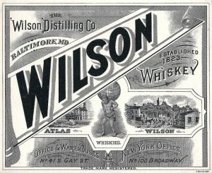 Wilson Whiskey label