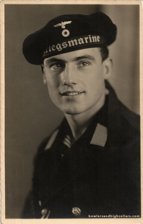 Heribert the WWII German sailor. RPPC. Private Collection.