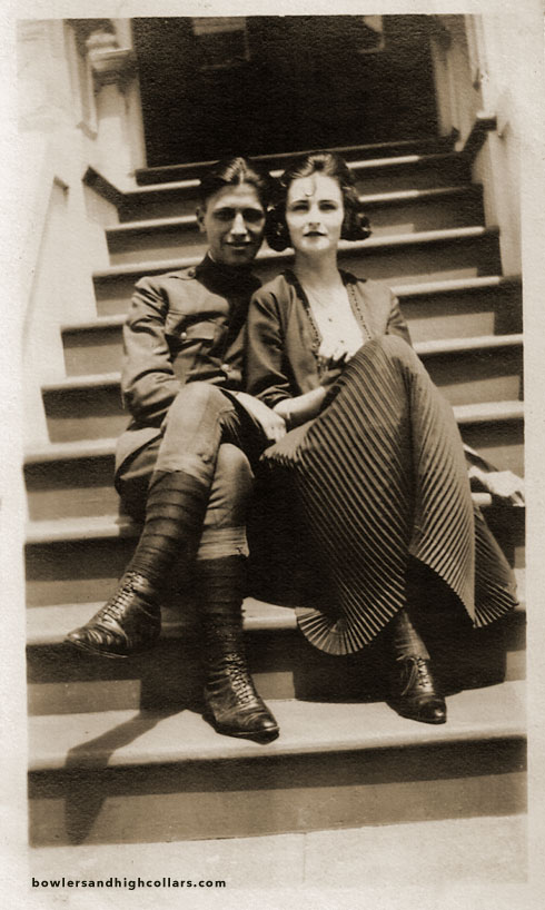 Soldier and Sweetheart. Snapshot. Private Collection.