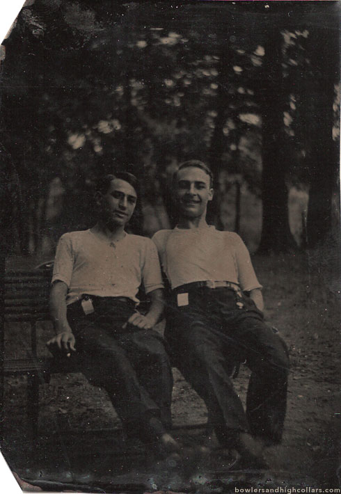 Two on a bench. Private Collection.