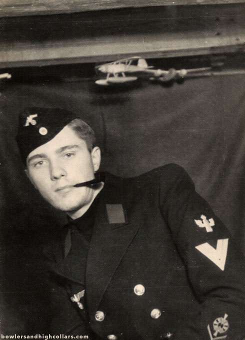 WWII German pilot. Snapshot. Private Collection.