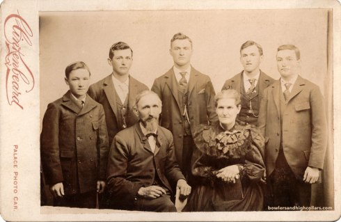 Five boys, no girl. Cabinet card. Private Collection.