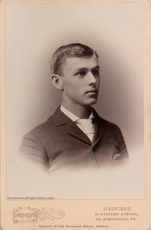 Ivorygraph. St. Johnsbury. Vermont. Boston. Young man. Cabinet Card. Private Collection.