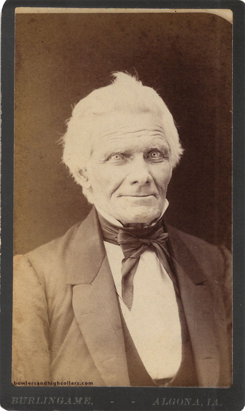 Old smiling man. CDV. Private Collection.