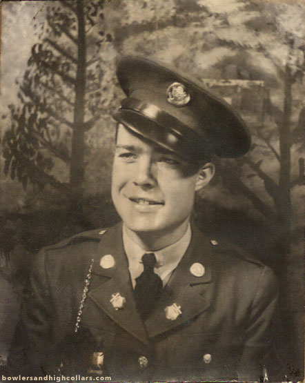 Photobooth. Handsome army soldier. Private Collection.