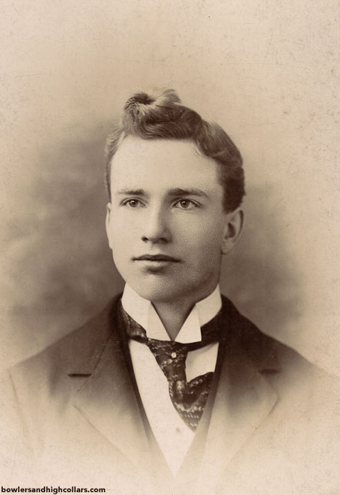 Rochester Victorian young man. Cabinet Card. Private Collection.