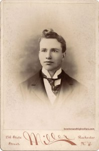 Miller. Rochester N.Y. Handsome young man with curl. Cabinet Card. Private Collection.