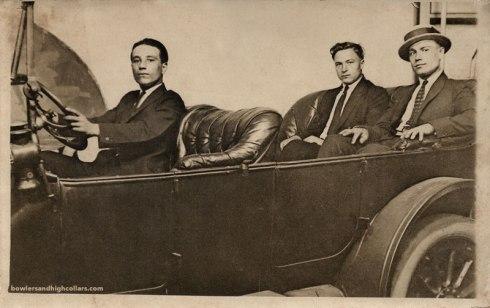 Studio car RPPC. Private Collection.