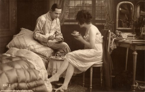 Tea time. Postcard. Private Collection.