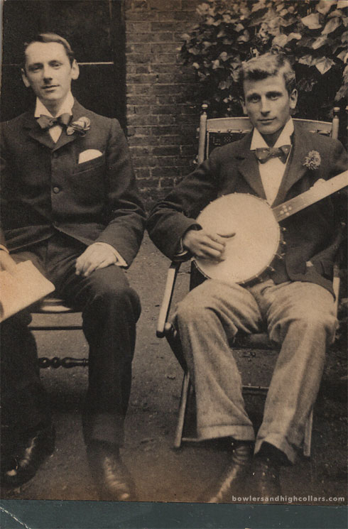 Banjo player and friend. CDV. Private Collection.