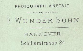 F. Wunder Sohn. Hannover.