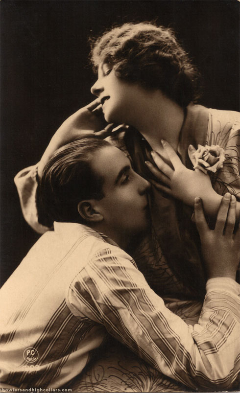 Sepia Embrace. PC Paris. Postcard. Private Collection.